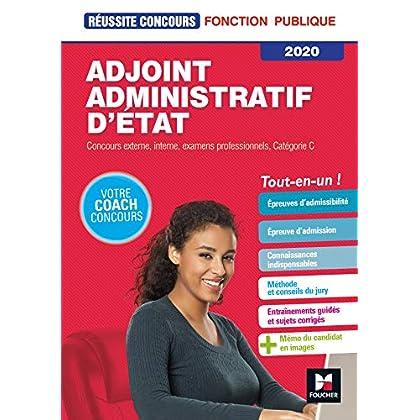 Réussite Concours - Adjoint Administratif d'Etat - Catégorie C - 2020 - Préparation complète