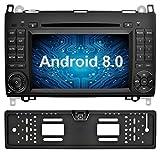 Ohok 7 Zoll Bildschirm 2 Din Autoradio Android 8.0 Oreo Radio mit Navi Moniceiver DVD GPS Navigation Unterstützt Bluetooth DAB+ für Mercedes-Benz A-Class/B-Class/Vito mit Rückfahrkamera