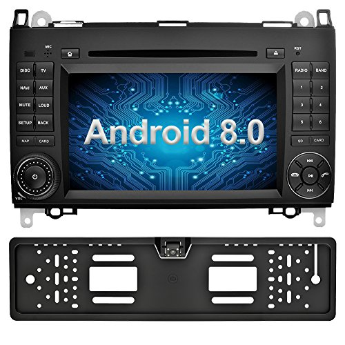 Ohok 7 Zoll Bildschirm 2 Din Autoradio Android 8.0 Oreo Radio mit Navi Moniceiver DVD GPS Navigation Unterstützt Bluetooth DAB+ für Mercedes-Benz A-Class/B-Class/Vito mit Rückfahrkamera - Mercedes Verstärker Benz
