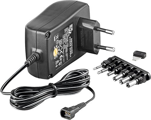 Goobay 67952 3-12V Universal-Netzteil mit maximum 18 W/1500mA inkl. 6 Adapterstecker DC - Dc-batterie-ladegerät 12 Volt