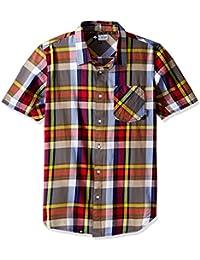 LRG Men's the Message Short Sleeve Woven Shirt