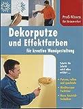 Dekorputze und Effektfarben für kreative Wandgestaltung Profi-Wissen für Heimwerker