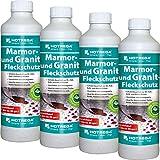 4 x HOTREGA Marmor- und Granit-Fleckschutz 500ml Flasche