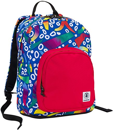 Price comparison product image Backpack INVICTA - OLLIE PACK - Roots Blue Rosso - computer tablet pocket - 25 LT bag