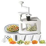 GTC Hanyu Spiral-Ultra 4-Blade Spiralizer, 8 in 1 Spiral Slicer, Heavy Duty Vegetable Pasta Maker and Mandoline Slicer for Low Carb/Paleo/Gluten-Free Meals (622)