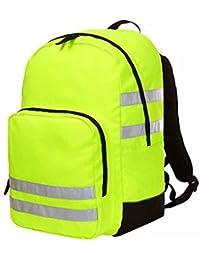 HALFAR - sac à dos jaune fluo bandes réfléchissantes - REFLEX - 1812206