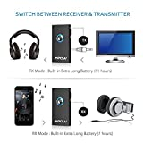 Mpow Bluetooth Receiver / Transmitter, Hands-Free Calls Car Kit, Portable 2-in-1 Wireless Bluetooth Audio Adapter with Hifi Stereo Music Transmission for Headphone / Car / Home Audio System & TV (Bluetooth Profile: A2DP&AVRCP). Connects to 2 Devices, 3.5mm & RCA Connections