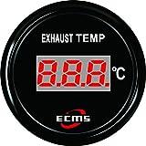Digitale Abgas Temperaturanzeige schwarz/schwarz
