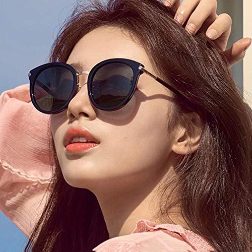 CYCY New polarisierte Sonnenbrille weiblichen koreanischen Mode UV-Schutz Sonnenbrille Fahrbrille 76025 hellschwarz alle grau, 76025 hellschwarz vollgrau