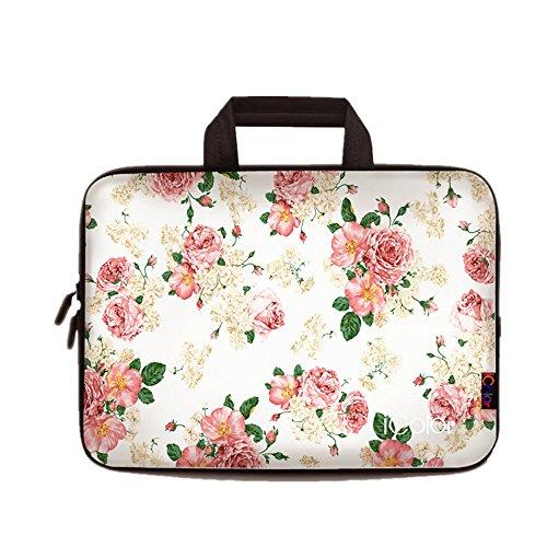 iColor Blumen Netbook- und Chromebook- Tasche Notebooktasche Laptoptasche Schutzhülle für Größe 12,9 13 13,3 Zoll) mit Tragegriff DEIHB13