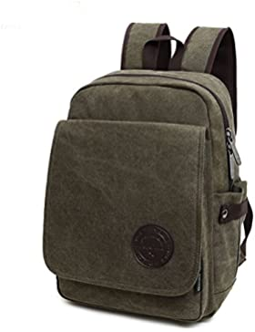 HongyuTing Vintage Canvas Rucksäcke Damen Herren Schulrucksack Retro Backpack Multifunktionale für Campus Studenten...