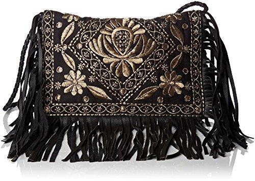2 Batik (Antik Batik Damen Ziggy Wallet Taschenorganizer, Schwarz (Black), 2x20x25 cm)