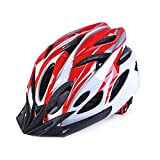 IREALIST Eco-Friendly Super Light Integrally Bike Helmet,Adjustable Lightweight Mountain Road Bike Helmets for Men and Women (Red)
