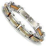 Best Modern Elements Cufflinks For Men - Industrial Greek Pattern 316L Stainless Steel Link Cuff Review