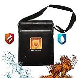 Fire Resistant Schutztasche - für Schwere und Nicht juckende | Coated Fire Resistant Umschlag Beutel feuerfest Geld Tasche für Bargeld/Pass/Titel/Schmuck [15'' x 11.5''] von Aoxun