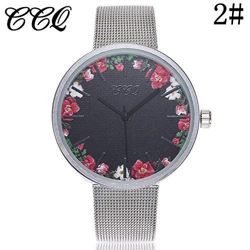 SHOUB New Fresh Elegant Watches Design Colorato Orologio al Quarzo Casuale Cinturino in Acciaio Inossidabile Cinturino in Acciaio Analogico