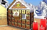 Gawol Adventskalender mit Aufwendig geprägtem Motiv, Scharniertür und Einer Spieluhr - 24 Tins Zum Selbstbefüllen -