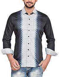 PP Shirts Men Black Colored Casual Shirt