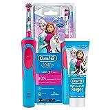 Oral B Frozen - elektrische wiederaufladbare B Oral Paste Zähne, blaue und rote Bürste