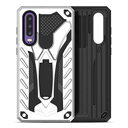 BOWFU Hülle für Asus Zenfone 6 Lite,Hybrid robuste Rüstung Dual Layer TPU+Harte PC zurück Fall mit Kickstand & Unterstützung magnetische Auto-Mount für Asus Zenfone 6 Lite-Silber