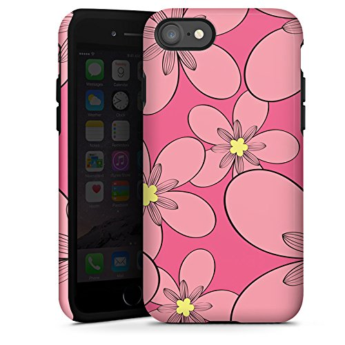 Apple iPhone X Silikon Hülle Case Schutzhülle Flower Muster Ornament Tough Case glänzend