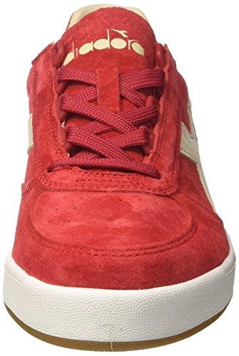 Diadora B.Elite Nub, Chaussures de Gymnastique Homme Rouge (Rosso Pompeianobianco)