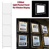 1 x 4 A3 LED doble ventana lateral luz bolsillo pantalla Panel de luz Inmobiliaria