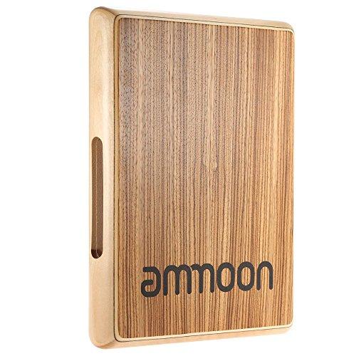 ammoon Trommel Drum Cajones Box Drum Kompakte Spielraum Cajon flache Handtrommel-Schlaginstrument 31.5 * 24.5 * 4.5cm