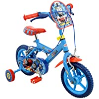"""Thomas & Friends Thomas Boys' Kids Bike Blue, 1"""" inch steel frame, 1 speed fully enclosed printed chainguard removable stabilisers"""