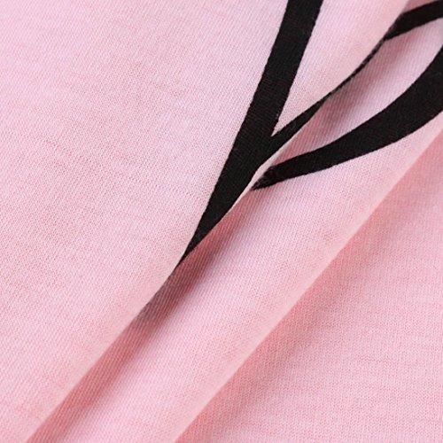 Felpe sportive Moda donna Halter t-shirt scollo a V manica corta t-shirt Top casual Slim,Yanhoo® Fashion Design Donna Manica Felpa Casual Tops Magliette T-Shirt Rosa