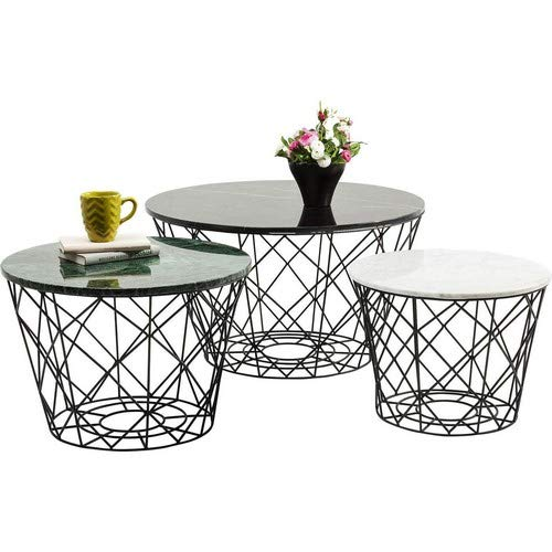 Kare Design East Coast Lot de 3 Tables Basses Rondes
