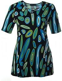 d84eae6d7ea07f Sempre piu Kurzarm T-Shirt mit V-Ausschnitt Damen Sommer-Mode Große Größen