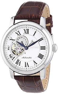 Seiko Mechanik - Reloj para hombre, con correa de acero inoxidable, de color plateado