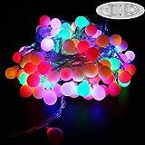 Lichterkette,100 LED's auf 10 Meter als Partybeleuchtung, Gartenbeleuchtung oder Weihnachtsbeleuchtung (Bunt)