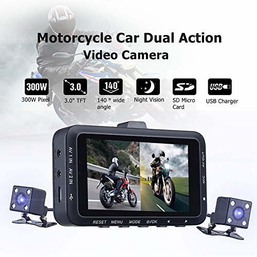 rder mit bewegungserkennung diebstahl Motorrad HD 720P DVR Fahrzeug Kamera Video Recorder Dash Cam Nachtsicht (Motorrad-nachtsicht)