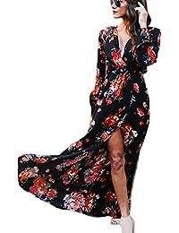 Yesmile Vestido de Mujer Vestido Largo Vestido de Estampado Vestido Elegante de