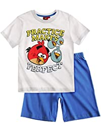 Angry Birds Garçon Pyjama court 2016 Collection - blanc