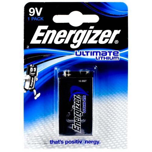 Energizer Lithium 9v (Energizer Ultimate Lithium Batterie LA522-E-Block 9V-Block Blister, Lithium, 9V)