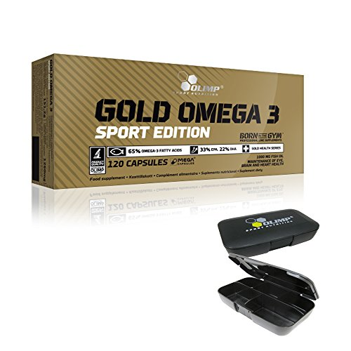 Olimp Gold Omega 3 Sport Edition 120 Kapseln, 1er Pack (1 x 151,2 g) + Pillendose