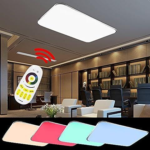 HG® 90W LED Deckenlampe Markantes Design RGB Deckenbeleuchtung Badezimmer 640-8100LM
