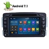 7 Zoll 2 Din Android 7.1.1 Nougat 2GB RAM Quad Core Autoradio Moniceiver DVD GPS Bluetooth Navigation für Mercedes-Benz C class W203/Clk -C209/W209/Viano/Vito W639/Vaneo/G-W463/A-Class W168
