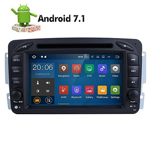 7 Zoll 2 Din Android 7.1.1 Nougat 2GB RAM Quad Core Autoradio Moniceiver DVD GPS Bluetooth Navigation für Mercedes-Benz C class W203/Clk -C209/W209/Viano/Vito W639/Vaneo/G-W463/A-Class W168 (Autoradio Waze)