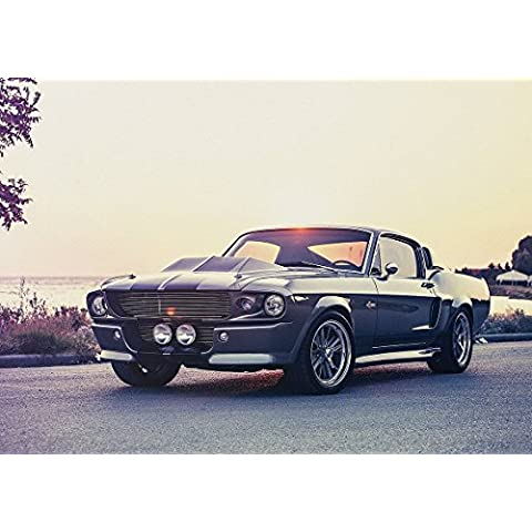 1967 Ford Shelby Mustang GT500 Eleanor Cobra Póster, A2(594X420MM)