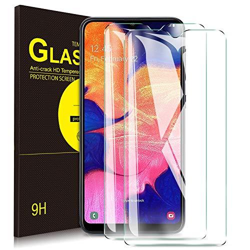 Lcd-touch Screen Protector (Yocktec Panzerfolie Displayschutzfolie für Samsung Galaxy A10, gehärtetes Glas mit [9H Härte] [Crystal Clear] [Kratzfestigkeit] für Samsung Galaxy A10[2 Packung])