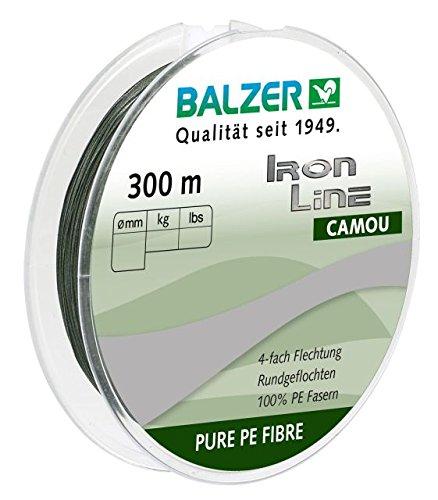 Balzer IronLine 4 Camou 300m geflochtene Schnur 0.22mm