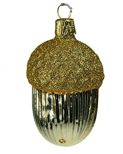 Christbaumkugel Weihnachtskugel Weihnachtsdekoration Anhänger Gold Eichel für Christbaum -