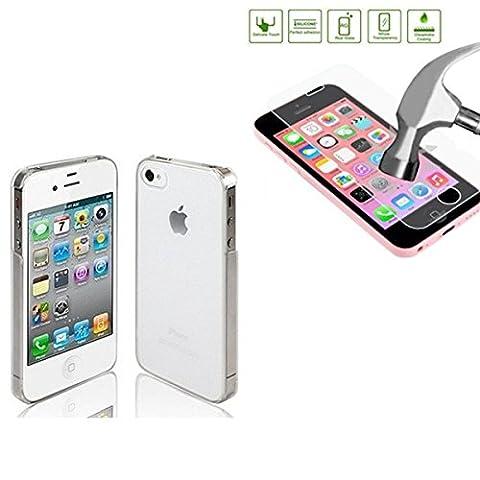 HQ-CLOUD Coque Rigide Pour Iphone 5 / 5S - Transparente - +1 film de protection ecran en verre trempe
