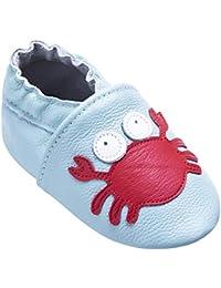 09db8ea527b1c Chaussures de bébé en Cuir Souple avec Mocassins Semelles en Daim pour Enfants  Chaussures Tout-
