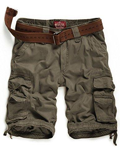 Match Herren Cargo Shorts #S3612(3612 Dunkel khaki,42 (Tag size L/32))