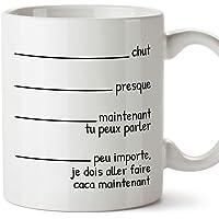 """MUGFFINS Mug/Tasse drôle -""""Presque… peu importe, je dois aller faire caca maintenant"""" - Cadeaux humoristique"""
